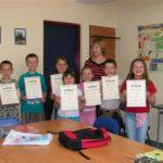 Dyplomy dla najmłodszych kursantów